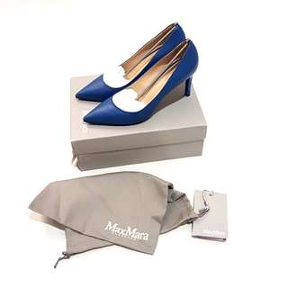 MAX MARA BLUE LEATHER HEELS RRP$650 | Size 39