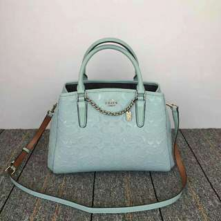 COACH MARGOT SIGNATURE EMBOSSED  MEDIUM SIZE ( F55451 )