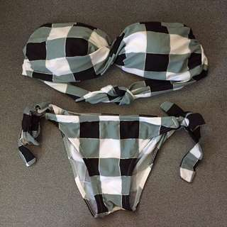 Checkered Green Bikini