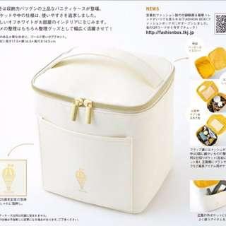 TABASA 白色立體收納化妝提包