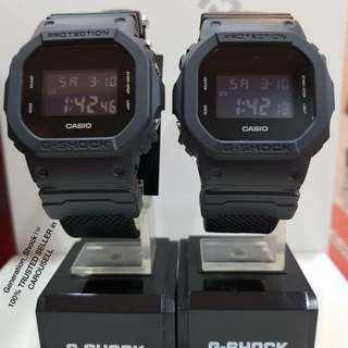 COUPLE 💝 SET GSHOCK 200m DIVER WATCH : NEW ARRIVAL: 1-YEAR OFFICIAL CASIO VALID WARRANTY: 100% Originally Authentic G-SHOCK Resistant In DEEP BLACK ILLUMINATOR LIGHTS Best Gift For Most Rough Users : DW-5600BBN-1DR / DW5600 / DW5600BBN / DW-5600