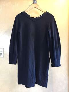 ZARA TRAFALUC BLACK L/S DRESS