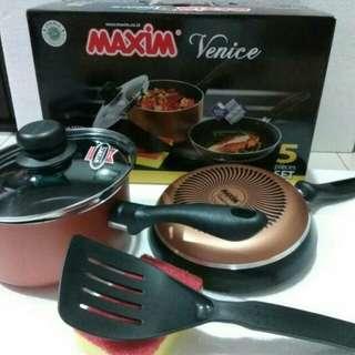 Maxim venice set /panci teflon/ fry pan teflon
