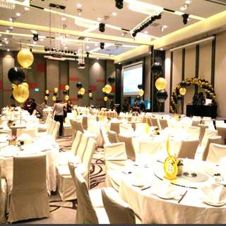Events company dinner and dance private function balloon decorations