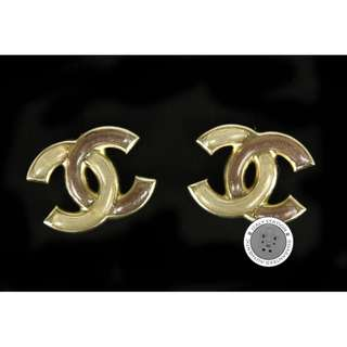 (NEW) Chanel  A64782 METAL EARRINGS GBHW, HORN 全新 耳環 金色
