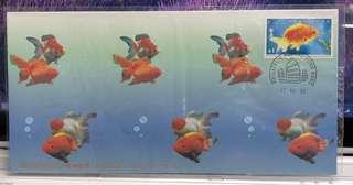 1993年香港金魚首日封
