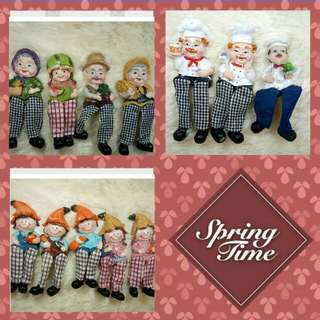 Hanging feet doll ref magnet 60each
