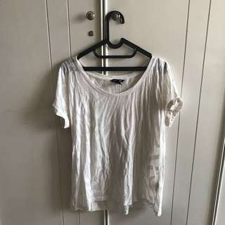 H&M White Zebra Transparant Shirt