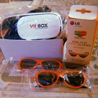 VR BOX x 3D Glasses For Games