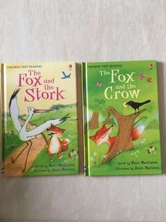 Set of 2 Usborne The Fox and the  Stork / Crow