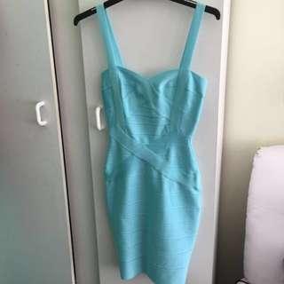 Aqua Bandage Dress