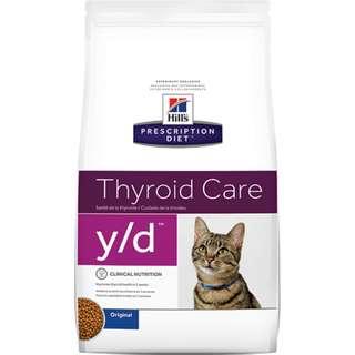 🚚 Hills 貓 y/d yd 4磅 甲狀腺護理 希爾斯 希爾思 處方食品 處方飼料 1497 貓用