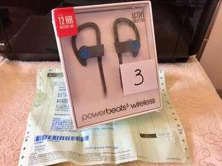 (全新) Power Beats 3 Wireless  藍芽無線耳機