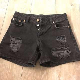 Monki 27黑牛仔短褲