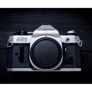 Canon AE-1 Program SLR vintage film camera