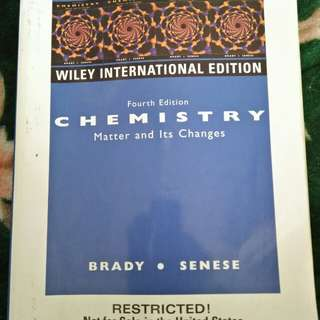 Chemistry Matter & Its Changes 4th edition