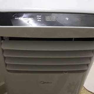 Midea Portable Aircond 1hp still new with complete box and warranty