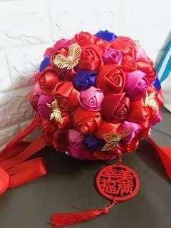 DIY欄門花球