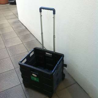 Pack and Roll trolley.  Dimension 38 x 33 x 36cm height. In good condition.