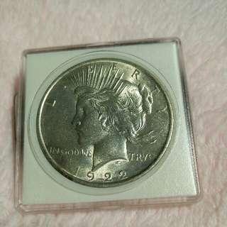 USA  1922 Peace Dollar Silver Coin
