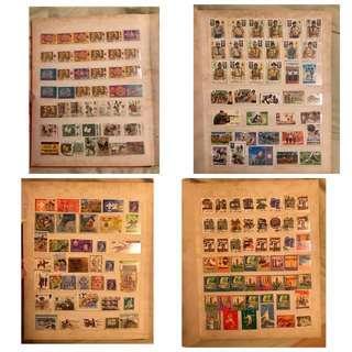 Vintage world wide stamps