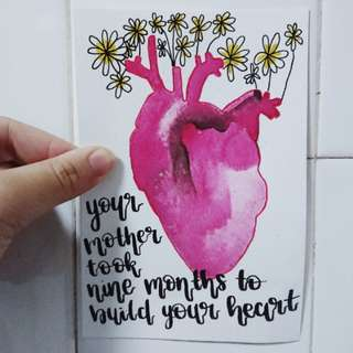 Handmade Watercolor Quote