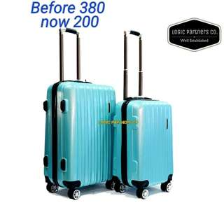 2 in1 glossy modern straight line style hardcase branded luggage 20& 24