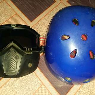 Nut shell helmet and uni mask