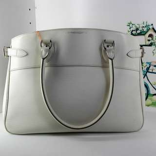 Louis Vuitton White Epi Leather Passy GM Bag