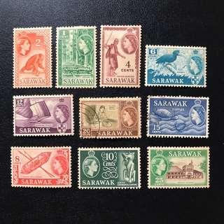 Stamp - Sarawak - Queen Elizabeth II (8 Mint, 2Used)