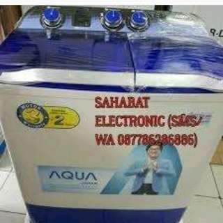 Mesin cuci aqua japan bisa dicicil tanpa dp proses 3 menit