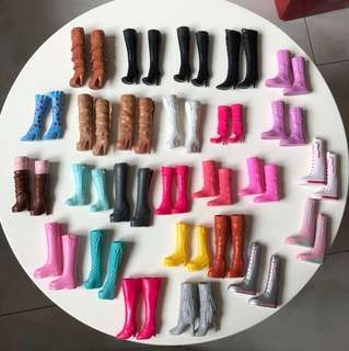 Barbie doll boots