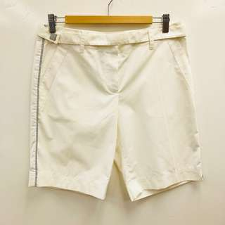 白色短褲 Chanel cream white short size 40