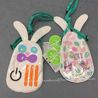 東京迪士尼 2017 復活節 米奇米妮 兔子造型 漆皮防水造型 觸控 手機包 隨身包 零錢包 萬用包