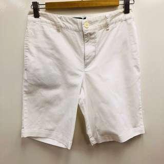 白色短褲 Polo white shorts size 14