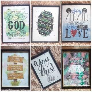 Wall frame artworks