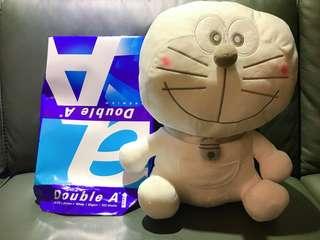 Doraemon - White Style Plushy - Mega Jumbo weight:350g