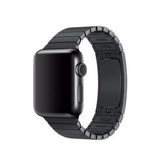 (包平郵) 全新 Apple Watch 錶帶 42 毫米太空黑錶鏈帶 鋼錶帶 Apple Watch Band 非原裝