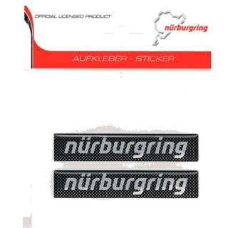 Nurburgring Circuit 3D Lettering Emblem (Carbon/Silver/Red)