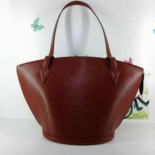 Louis Vuitton Red Epi Leather Saint Jacques PM Tote Bag