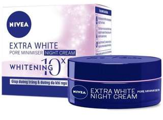 Nivea extra white night cream(pore minimiser) 50ml