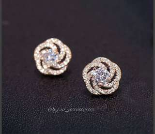 18K rose gold-plated Silver Earrings!✨s925