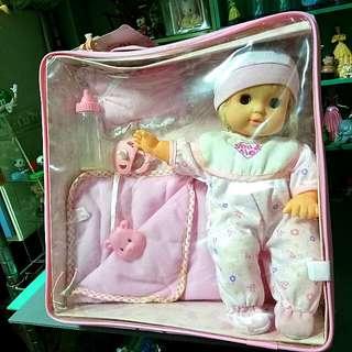 11吋 背袋睡眠娃娃