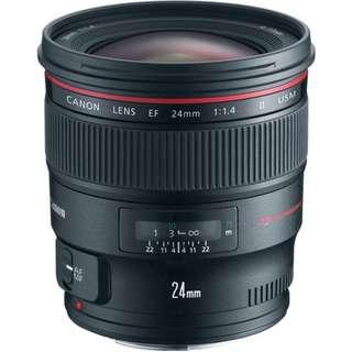 EF 24mm f/1.4L II USM Lens Canon