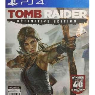 Used Playstation 4 PS4 Tomb Raider Definitive Edition Region 3 (NEAREST MRT)