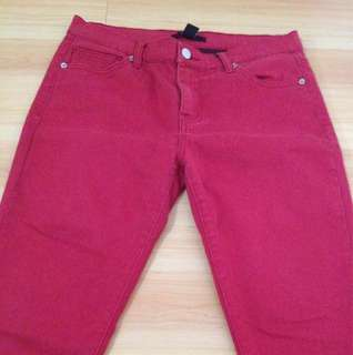 Forever 21 Red Jeans Slim Fit