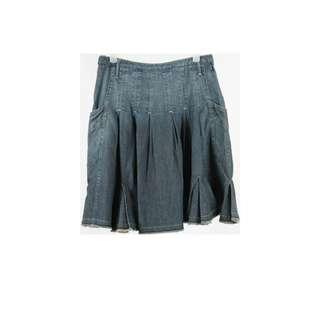 Mango Blue Washed Skirt