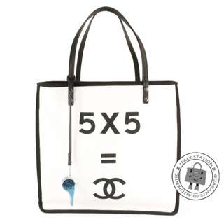 (NEW) Chanel A93682 LADIES FIRST SHOPPING CANVAS SHOULDER BAG SHW, WHITE 全新 手袋 白色