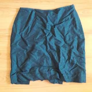 Blue Green Pencil Skirt