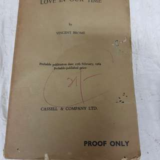 Love in our Time proof only book